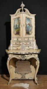 Antiguo gabinete italiano pintado gabinete 1860