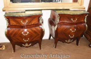 Par French Empire Bombe Commodes Cómodas Kingwood