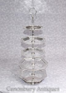 Placas de plata de la placa de la plata 5 de la torta de Victorian