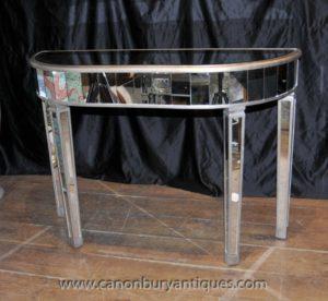 Art Deco Mirrored Consola Muebles Espejo Mesa