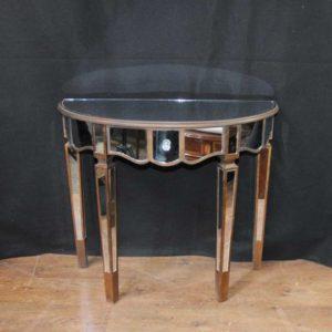 Mesa de consola con espejo Art Deco Demi Lune Tables