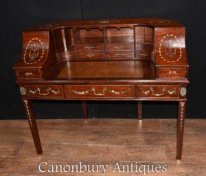 REGENCY Carlton House escritorio de caoba pintada de mesa