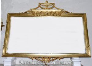 Grande Regency Adams espejo del manto de cristal dorado
