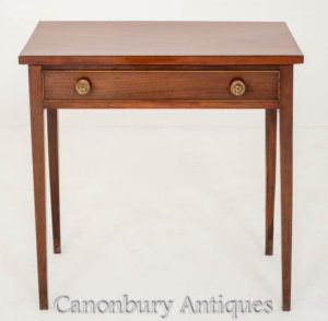Regency Side Table Mahogany Antique