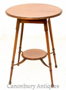 Tavolino In Mogano-Antiquariato Occasionale Circa 1890