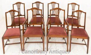 Set di sedie da pranzo Hepplewhite in mogano