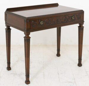 Mesa auxiliar Adams Consola antigua de caoba tallada