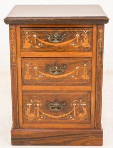 Mueble de noche con cajones de pecho antiguo 1880