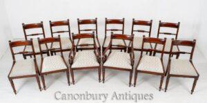 Sillas de comedor Regency - Muebles antiguos de caoba