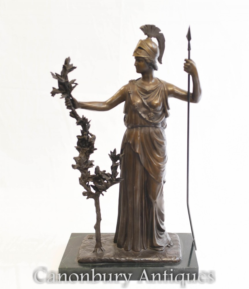 Estatua de bronce Britannia - Diosa romana Bretaña