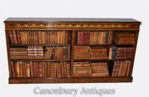 Librería abierta de nogal - Estanterías con incrustaciones Regency Interiores de estudio